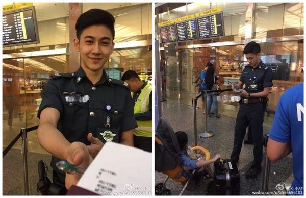 22岁机场辅警爆红 获邀代言樟宜
