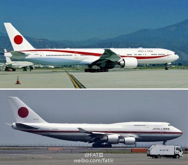 日本政府全新777专机亮相 太阳旗加红色曲线