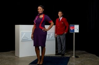 Delta's new uniform design for ticketing and gate agents. Photo credit: Delta