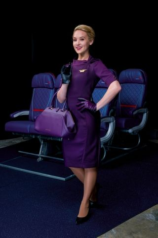 One of the new Delta flight attendant uniforms. Photo credit: Delta