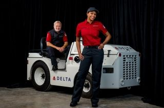 Delta's new uniform design for ramp and cargo workers. Photo credit: Delta