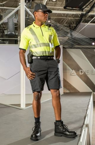 Delta's new uniform design for TechOps and ground support workers. Photo credit: Delta