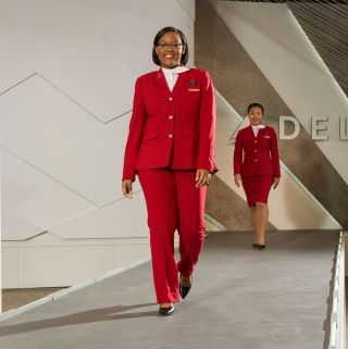 Delta's new uniform design for airport customer service workers. Photo credit: Delta