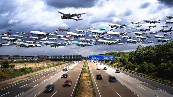 【组图】超50架飞机同时起降? 太壮观啦!