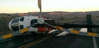 嚣张!醉驾司机高速公路上撞翻医疗直升机