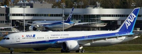 全日空新飞机交付途中单发失效挂7700代码