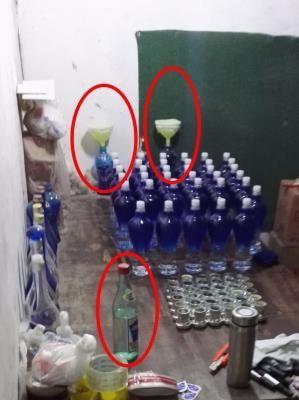 警方动用无人机摧毁特大跨省制贩假酒网络团伙