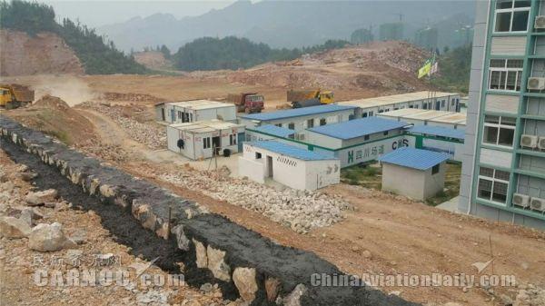 黔江武陵山机场通用停机坪建成竣工