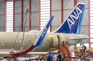 The first Airbus A320neo for All Nippon Airways has rolled out of painting hangar in France. Photo by ANA