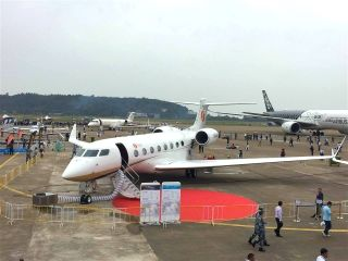 """南山公务机""""湾流G650ER""""亮相珠海航展"""