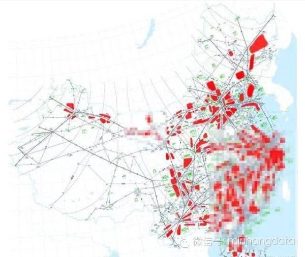 中国航空管制图