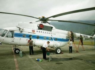 福州竹岐机场迎米-八直升机 开展航空护林任务