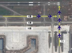 白云机场19号跑道飞机等待情况示意图