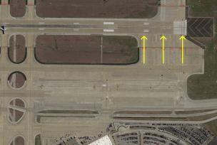 达拉斯机场35L号跑道的等待坪