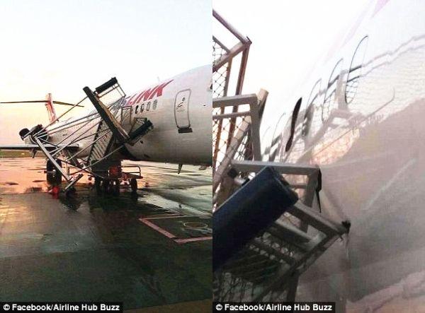 """30年来最强狂风袭击 澳一机场3架飞机""""受伤"""""""