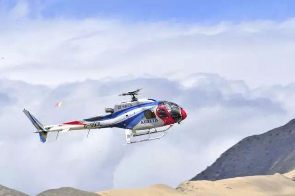 青海实施高海拔直升机无公害防治林地鼠害作业