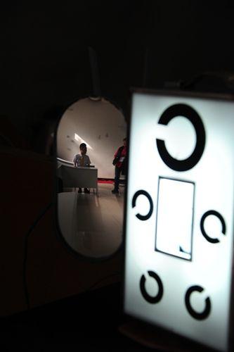 """图:视力表为招飞专业""""C""""字表,八个方向. 摄影:姜静-东航甘肃"""