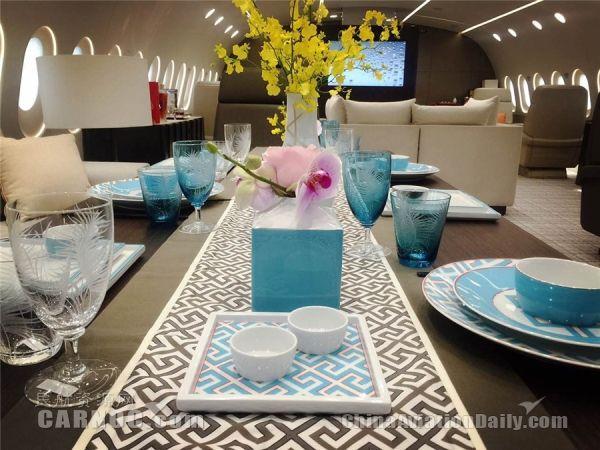 """1月22-23日,金鹿公务携其运营的全球首架787梦想商务机""""Dream"""