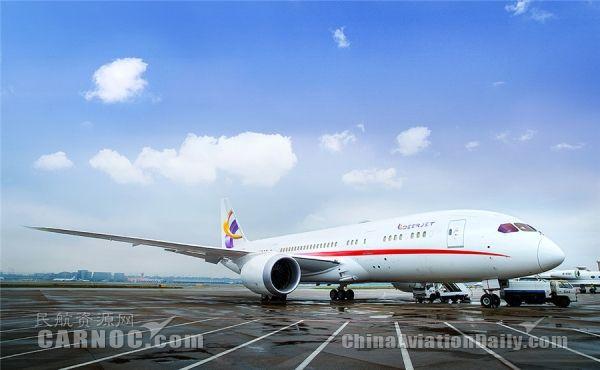 全球首架787梦想商务机亮相上海