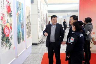省第五届职工书画大赛作品展在石家庄机场开幕