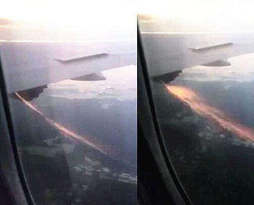 【视频】酷航客机遭鸟击后发动机冒出火花