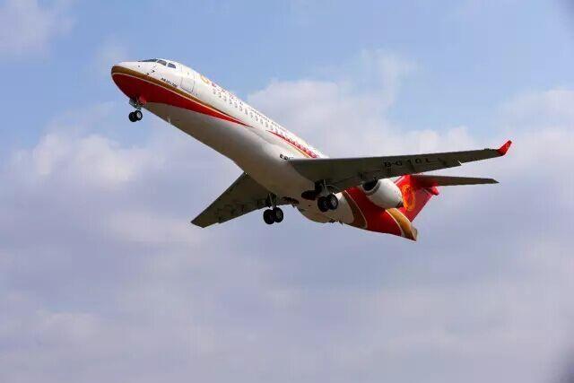 新型飞机囹�a_是中国按照国际标准研制的具有自主知识产权中短航程新型涡扇支线飞机
