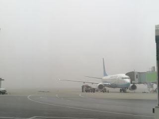 受大雾影响 长沙机场进出港航班无法正常起降