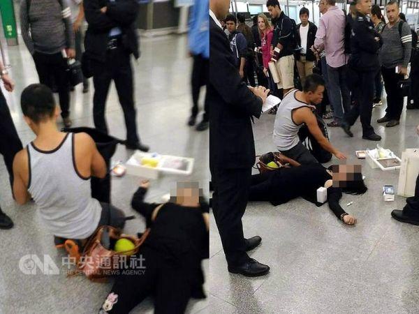 台消防员香港机场救人 错过航班也不悔
