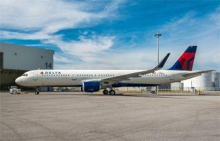 达美航空接收首架美国产空客A321客机