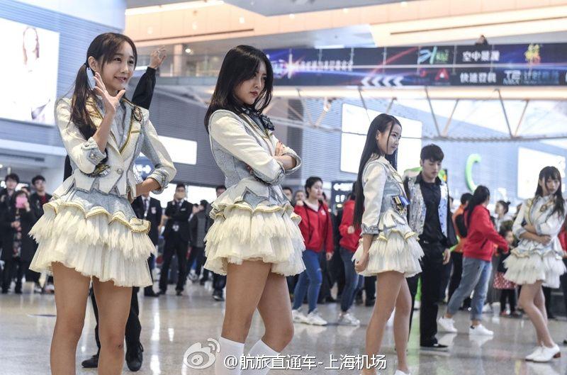 """上海虹桥机场上演""""快闪秀""""宣传控烟"""