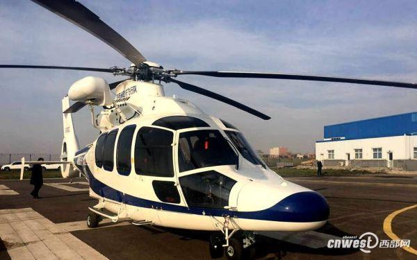 陕西警航新添一架H155直升机 最多可坐14人