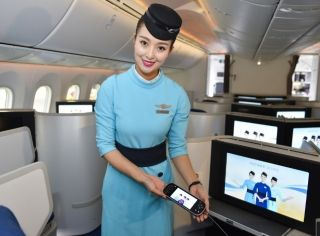 In-flight Entertainment onboard Xiamen Airlines 787-9