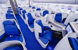 Business Class of Xiamen Airlines Boeing 787-9