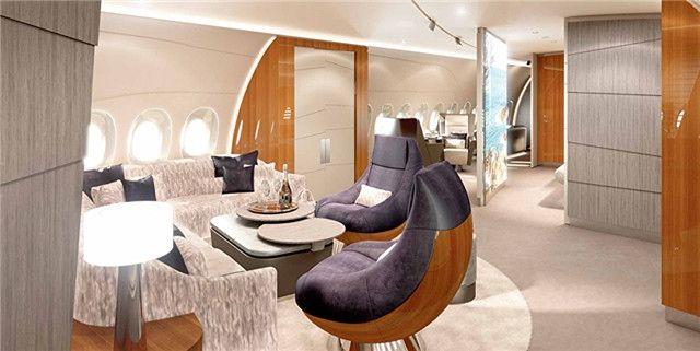 岂止于bigger A350私人飞机自带SPA按摩房
