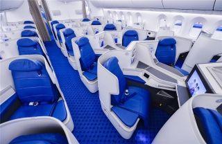 厦航首架波音787-9飞机商务舱 摄影:贺晟