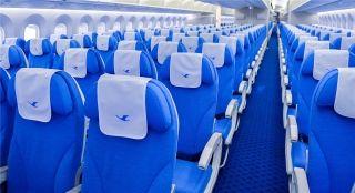 厦航首架波音787-9飞机经济舱 摄影:贺晟