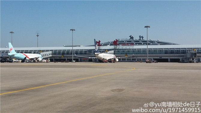 桂林两江国际机场航站楼年底封顶图片
