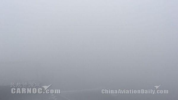 12月15日,乌鲁木齐机场大雾