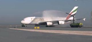 【视频】全球最短A380航线首飞全过程