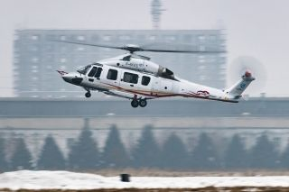 Avicopter AC352, China's first 7-tonne civil helicopter, made its first flight in Harbin on December 20. Photo by Yue Shuhua