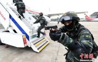 中国首支武警反劫机中队迁址浦东机场