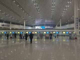 天津出现大雾,机场部分早出港航班受影响 (摄影:左勇)