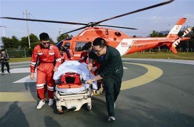 """温州有""""空中120""""!20分钟从文成飞抵附一医"""