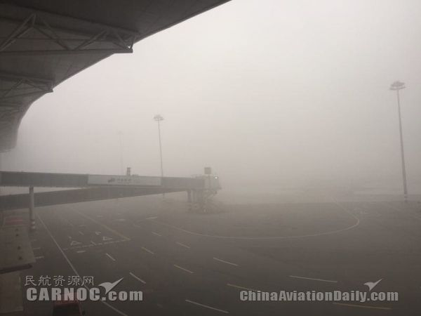 石家庄机场再遇雾霾袭击 164架次航班取消