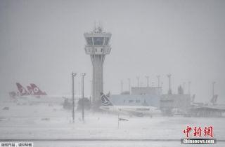 土耳其遭遇强降雪袭击 数百航班取消