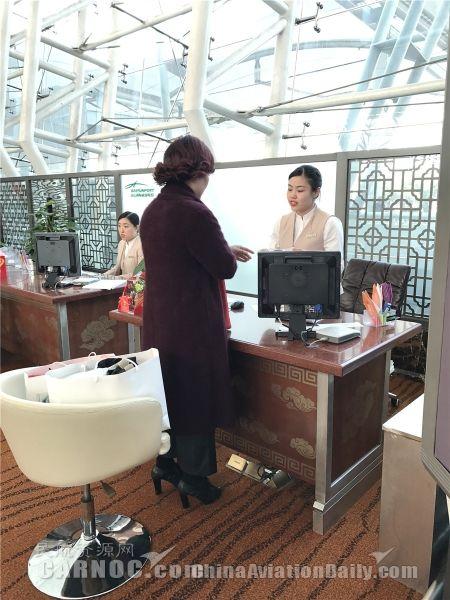 海南航空广州分公司启用高端专属值机区