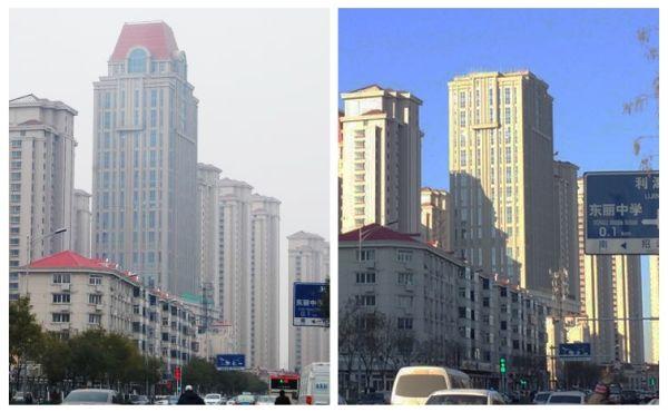 图:拆降前后对比照片 摄影:天津滨海国际机场飞行区管理部图片