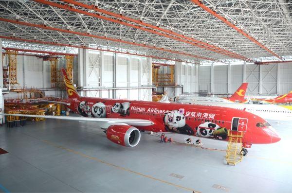 """红得好耀眼!第二架""""功夫熊猫号""""787-9将飞天!"""