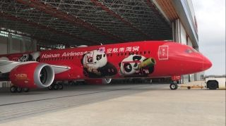 Hainan Airlines unveiled its second Boeing 787-9 Dreamliner in a Kung Fu Panda livery at its Haikou hangar on January 26.
