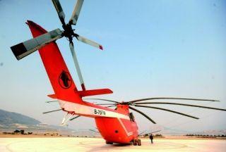 每天飞行400公里 直升机参与清明山东森林消防